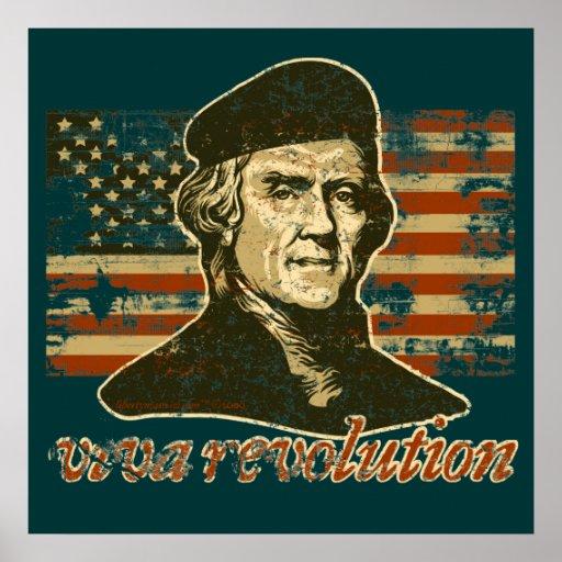 Viva Revolution Jefferson Poster