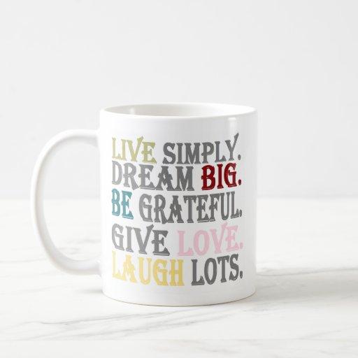 Viva simplemente taza