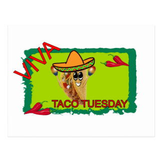 Viva Taco Tuesday Postcard