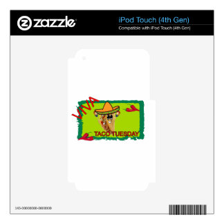 Viva Taco Tuesday Skins For iPod Touch 4G