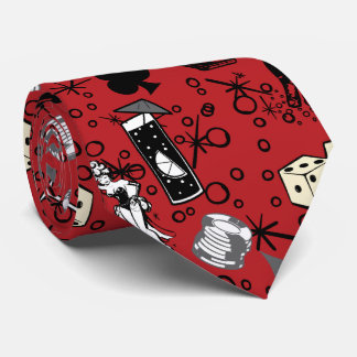 Viva Vegas Casino Retro Gambling Red Tie