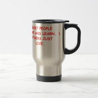 viva y aprenda taza de café