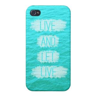Viva y deje el caso vivo del iPhone del océano iPhone 4 Carcasa