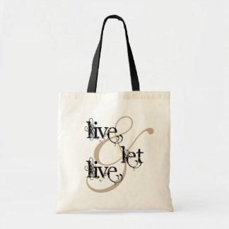 viva y deje el live_full bolsa lienzo