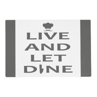 Viva y deje para cenar salvamanteles