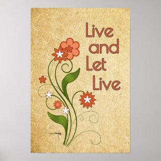 Viva y deje vivo (12 programas de la recuperación póster