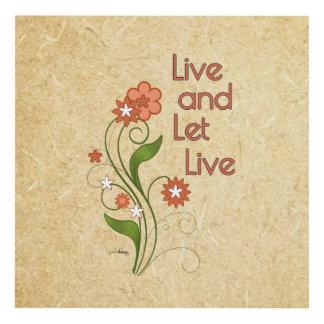 Viva y deje vivo (12 programas del paso) cuadro