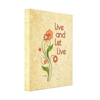 Viva y deje vivo (12 programas del paso) lona estirada galerias