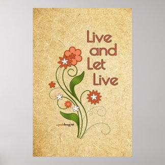 Viva y deje vivo (12 programas del paso) póster