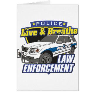 Viva y respire la aplicación de ley tarjetas