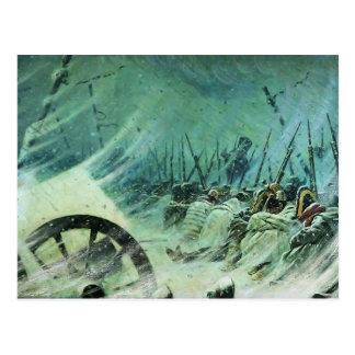 Vivac de la noche de Vasily Vereshchagin- del gran Tarjetas Postales