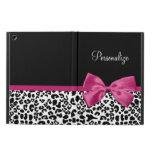 Vivacious Dark Pink Ribbon Fashion Leopard Print iPad Air Cases