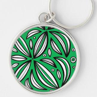 Vivacious Plentiful Fair Poised Silver-Colored Round Keychain