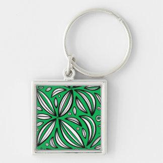 Vivacious Plentiful Fair Poised Silver-Colored Square Keychain