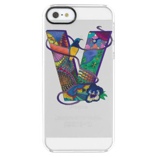 """Vivacious V"" Monogrammed iPhone Case"