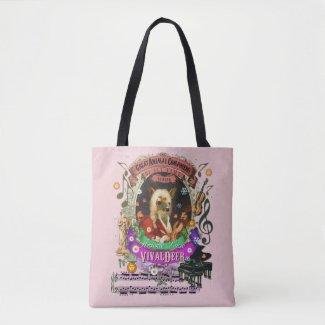 Vivaldeer Funny Deer Fawn Animal Composer Vivaldi Tote Bag