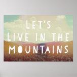 Vivamos en el poster de las montañas