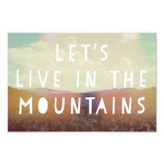 Vivamos en la impresión del arte de las montañas cojinete