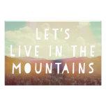 Vivamos en la impresión del arte de las montañas impresion fotografica