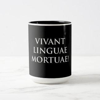 Vivant Linguae Mortuae Two-Tone Coffee Mug