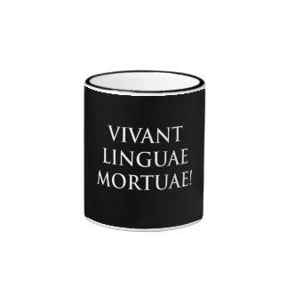 Vivant Linguae Mortuae Ringer Coffee Mug