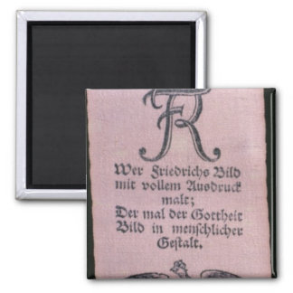 Vivat' bands of Frederick II 2 Inch Square Magnet