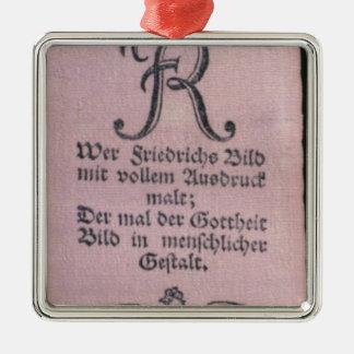 Vivat' bands of Frederick II Metal Ornament