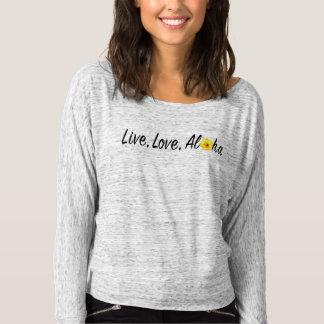Vive, ama, la hawaiana de la camisa del hombro