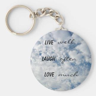 vive bien el amor de la risa a menudo mucho llaveros personalizados