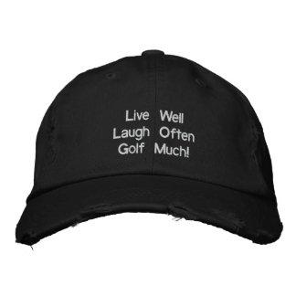 ¡Vive bien el golf de la risa a menudo mucho! Gorr Gorra Bordada