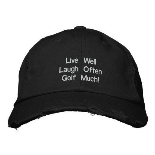 ¡Vive bien el golf de la risa a menudo mucho! Gorr Gorras Bordadas