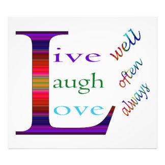 Vive bien, la risa a menudo, ama siempre cojinete