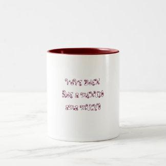 VIVE BIENRIE A MENUDO AMA MUCHO Two-Tone COFFEE MUG