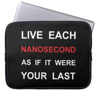 Vive cada nanosegundo fundas portátiles