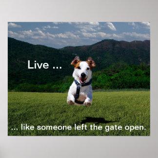 Vive como alguien dejó a puerta el poster abierto póster