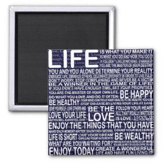 Vive completamente, la risa viva del amor aprende, imán cuadrado