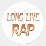 Vive de largo el rap etiquetas redondas