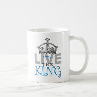 Vive de largo el rey taza básica blanca