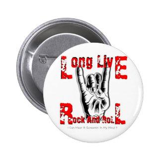 Vive de largo el rock-and-roll pin redondo 5 cm