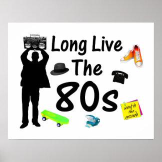 Vive de largo la cultura de los años 80 póster