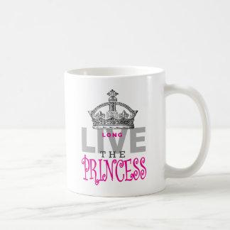 Vive de largo la princesa taza básica blanca