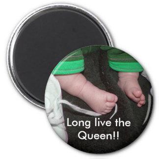 ¡Vive de largo la reina!! Imán Redondo 5 Cm