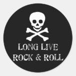 Vive de largo la roca y rueda etiqueta