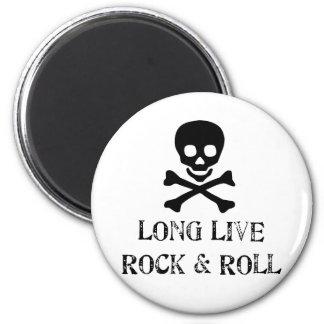Vive de largo la roca y rueda imán redondo 5 cm