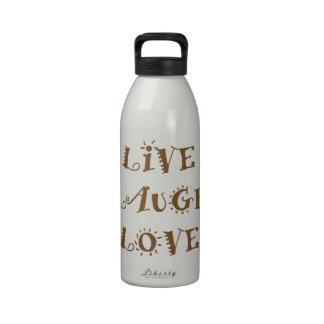 Vive el amor de la risa botellas de beber
