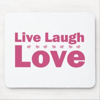 Vive el amor de la risa alfombrilla de ratón