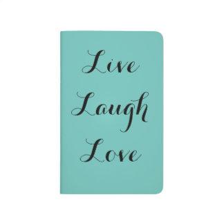 Vive el amor de la risa cuaderno grapado