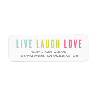 Vive el amor de la risa etiqueta de remitente