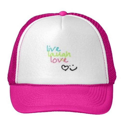 Vive el amor de la risa gorros bordados