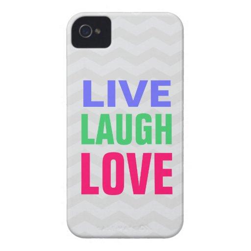 Vive el amor de la risa, iPhone 4/4s del fondo del Carcasa Para iPhone 4 De Case-Mate